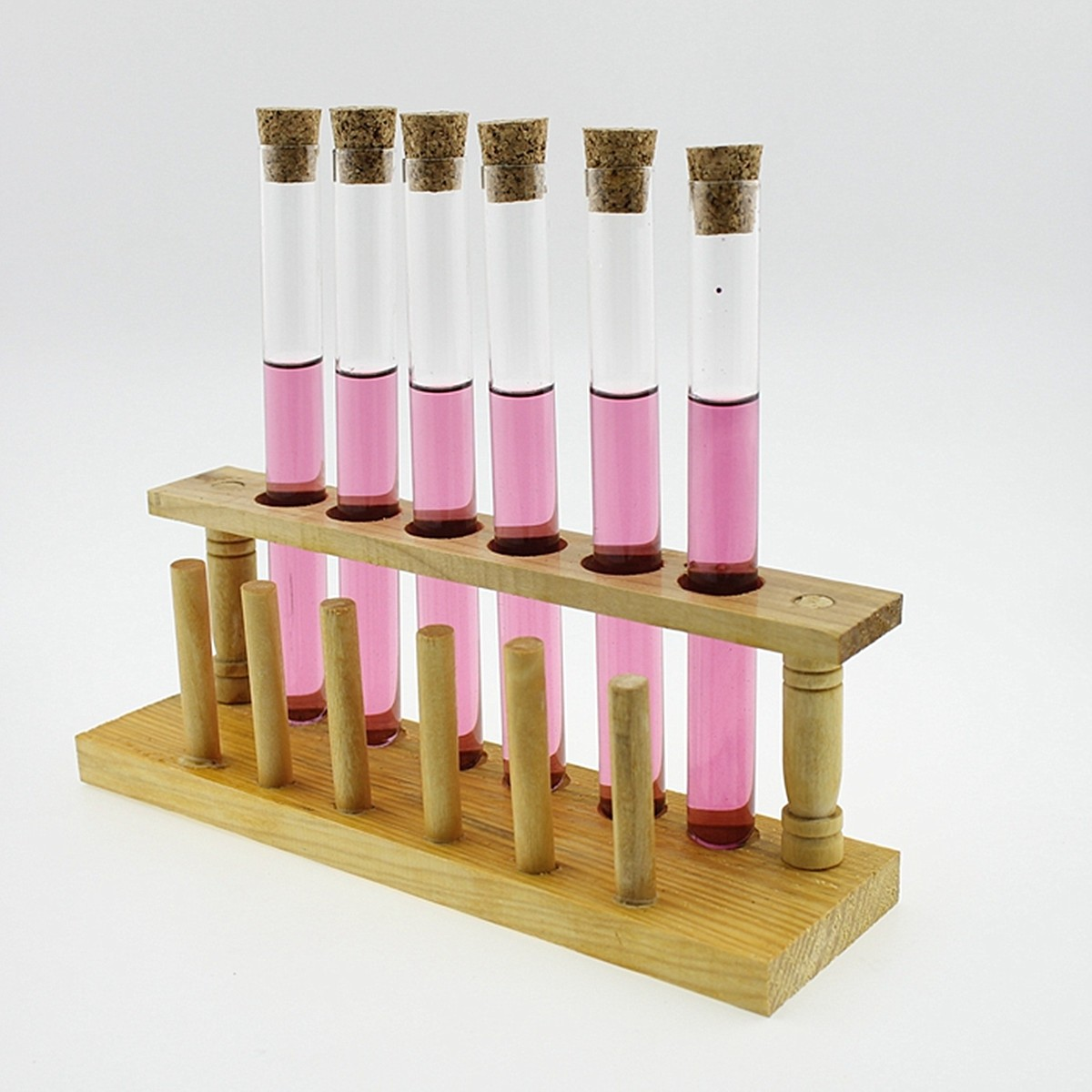 Laboratory Test Tube Rack 6 Holes Testing Tubes Clip Holder Stand Dropper Wood Lab SuppliesLaboratory Test Tube Rack 6 Holes Testing Tubes Clip Holder Stand Dropper Wood Lab Supplies