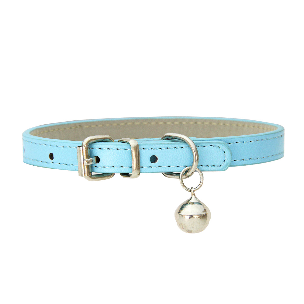 Купить с кэшбэком 16 Colors Collar for Cats Bell Cat Small Dog Puppy kitten Strap Necklace for Pet flea Collar Cats Products for Pets Chihuahua