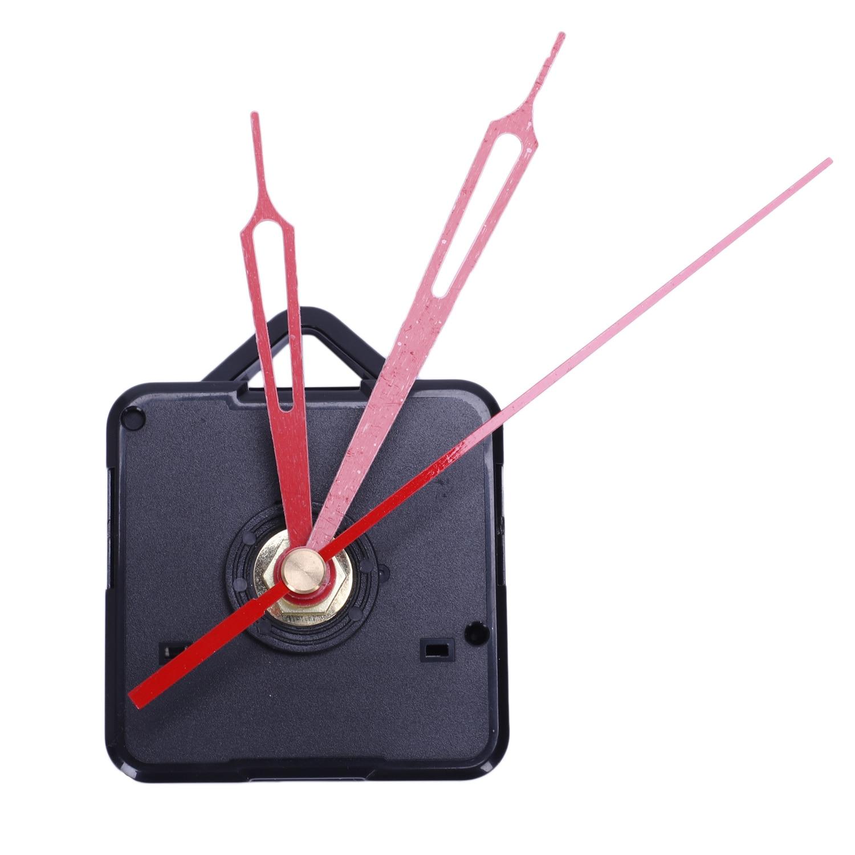 1 Set Stille Große Wanduhr Quarz Bewegung Mechanismus Schwarz Und Rot Hände Reparatur Kit Tool Set Mit Haken