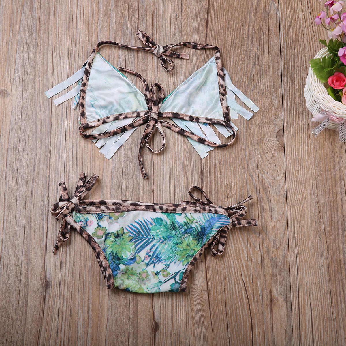 2019 2 pièces Bébé Fille Nouveau-Né Ensemble de Bikini Maillot De Bain Maillot De Bain Gland Maillots De Bain Vêtements Impression Mode 0-24 Mois