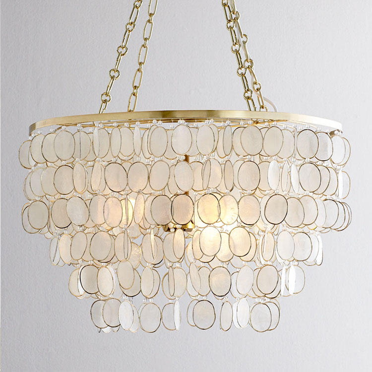Natural Shell lamp Pastoral LED shell pendand Light for Living Room Bedroom Creative Luxury Lighting Antique Style shell sconce
