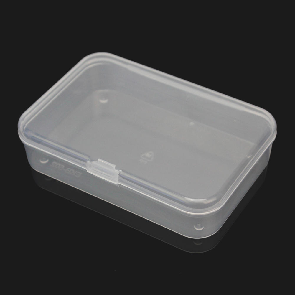2Pcs Plastic Transparent Fine Storage Box Collection Container Case with Lid New