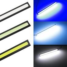 1 шт. 17 см универсальный дневной ходовой светильник COB DRL светодиодный лампы внешнего освещения авто водонепроницаемый автомобильный Стайлинг светодиодный DRL лампа
