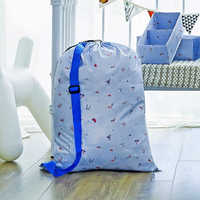 Large Laundry Bag Dirty Clothes Storage Bag Portable Foldable Oxford Fabric Laundry Bags With Drawstring Household Essential