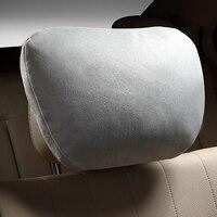 1 Pair Car Headrest Maybach Design S Class Ultra Soft Pillow high quality suitable For Mercedes Benz 29*19cm