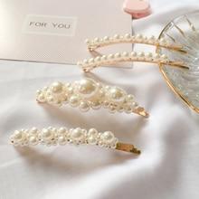 Hot Sale Girls Hair Clip High Quality Trendy Pin Women Korean Pearl girls Handcraft hairgrip Female Party Accessories