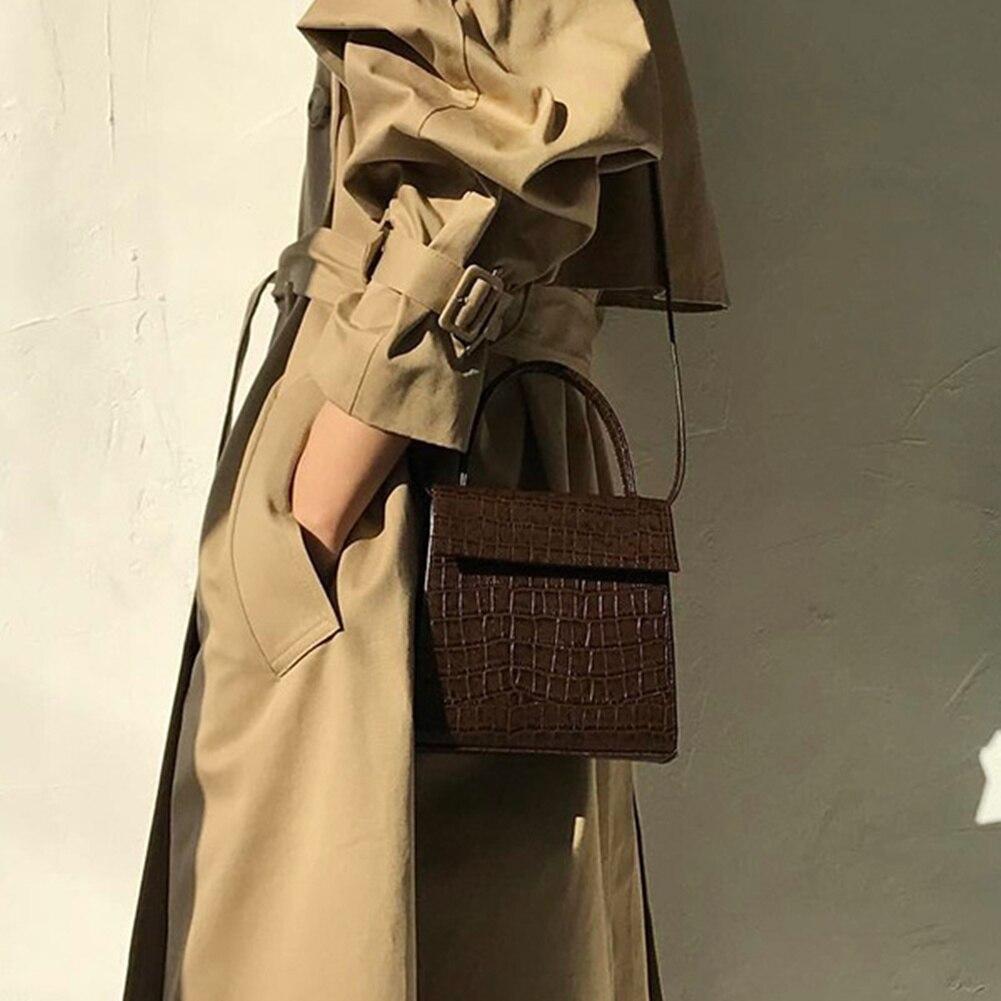 Crocodile Pattern PU Leather Briefcases Bag High Quality Bag Fashion Small Flap Bag