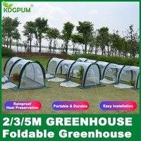2/3/5M Portable Mini Greenhouse Indoor Garden Plant Greenhouse Plastic PE Waterproof UV Protected Green House Invernaderos