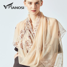 [VIANOSI] 2019 Fashion bandana big size Women's Scarves elegant silk scarfs for ladies summer beach stoles luxury hijab echarpe
