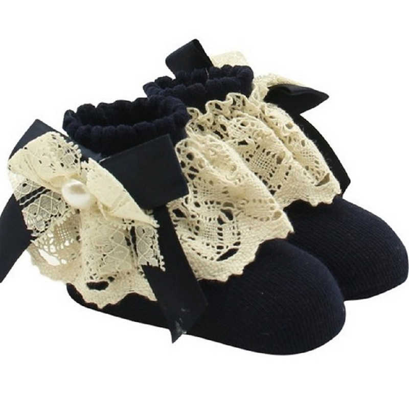 eec9b4e80dff1 2019 Newborn Infant Baby Lace Socks Cute Girls Tiny Toddler Spanish Knitted  Cotton Blend Ankle Socks Autumn Fashion New Sale