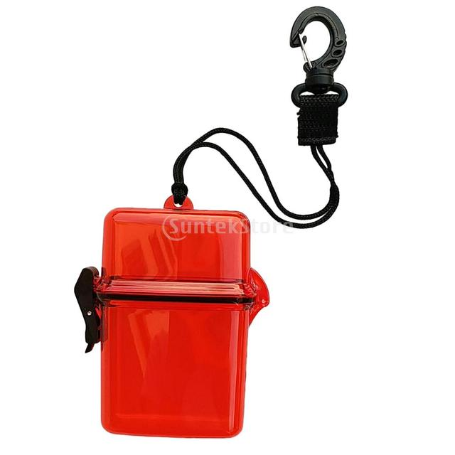 MagiDeal Scuba Diving Kayaking Waterproof Dry Box Gear Accessories Container Case & Rope Clip for Money, ID Cards, License, Keys