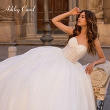 Ashley Carol Appliques A-line Wedding Dress 2019 Sexy