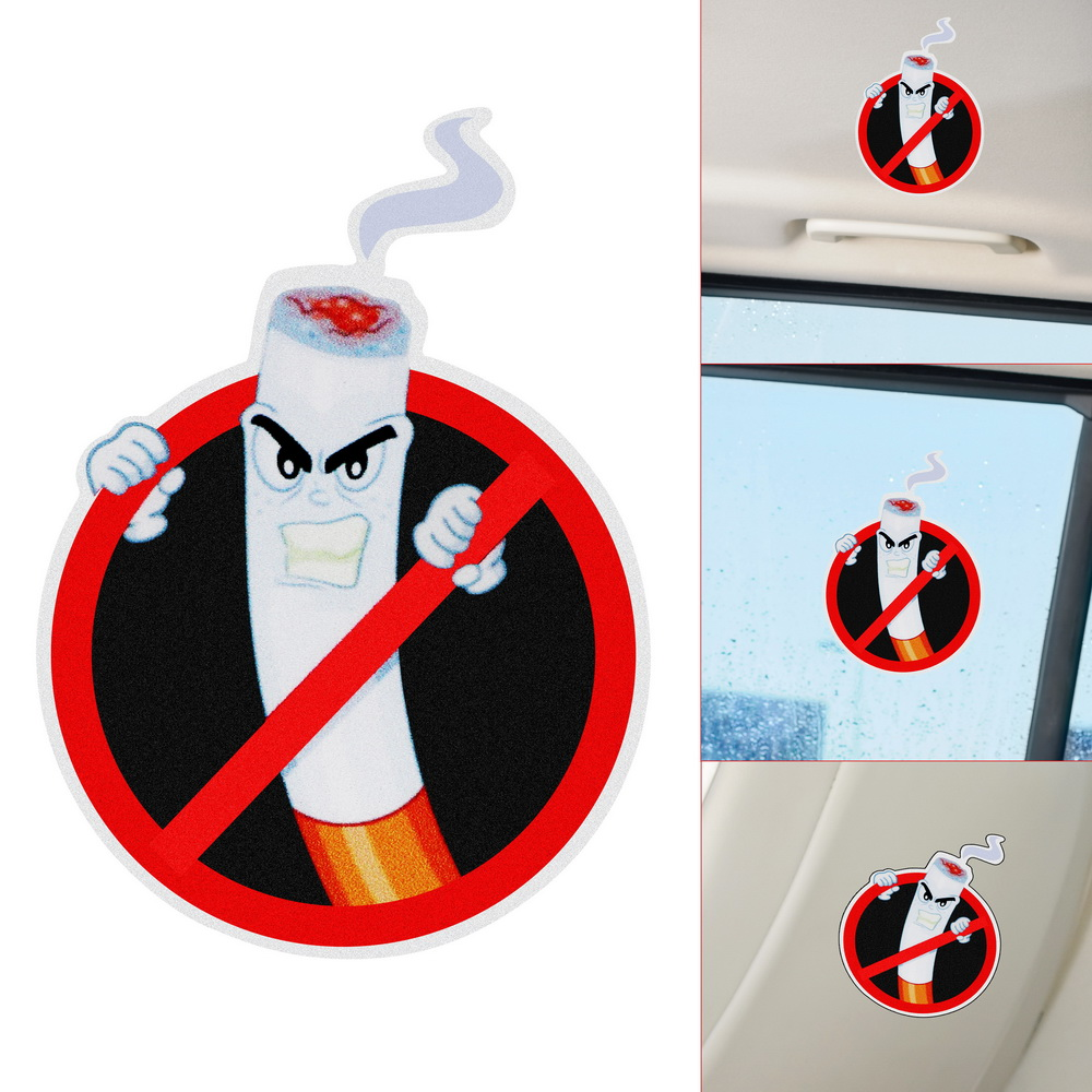 No Smoking Warning PVC Funny Car Stickers Auto Decoration Interior Accessories Car Styling