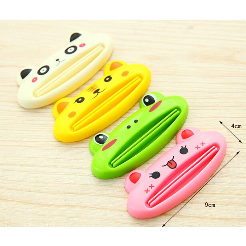1Pc Cartoon Frog Toothpaste Dispenser Cream Squeezer Cute Animal Easy Squeeze Paste Bathroom Toothpaste Squeezing Clamp