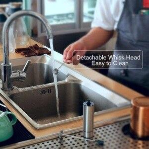 Image 5 - Mousseur à lait électrique REELANX mousseur à lait Rechargeable pour batteur à oeufs en mousse de café Cappuccino