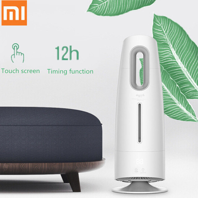 Xiaomi Home DEERMA Air Humidifier Aroma Diffuser Mist Maker Touch Screen 4L Oil Diffuser Air Purifying Air-Conditioned Household