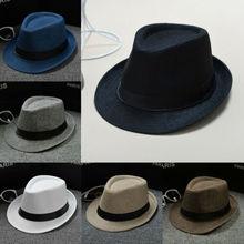 De moda de verano fresco Panamá de ala ancha sombrero de paja hecho Indiana  Jones sombrero 7980dcab315