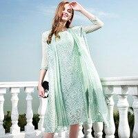 100% шелковое летнее платье из двух предметов