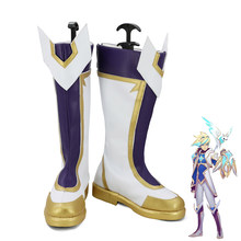 LOL De Prodigal Explorer Ezreal Ster Guardian Huid Cosplay Schoenen Mannen Laarzen(China)
