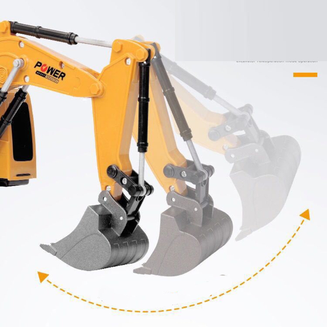 2.4Ghz 6 Channel 1:24 RC Excavator toy RC Engineering Car Alloy and plastic Excavator RTR For kids Christmas gift 4