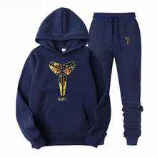 Casual Tracksuit Men Set 2019 Winter New Inner Fleece Thick Hooded Jacket + Pants Men's Two Piece Sets Warm Sporting Suit Male(China)