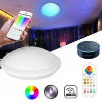 ARILUX Wifi Smart LED Ceiling Light 30W RGB+W+WW LED Ceiling Light with IR Remote work with Alexa Amazon