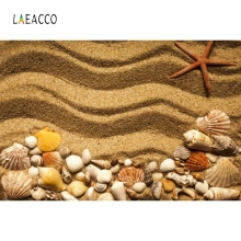 Laeacco Beach Ripple Starfish Shell Coral Portrait Photography Backgrounds Customized Photographic Backdrops For Photo Studio