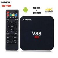 SCISHION V88 TV Box Rockchip 3229 Quad Core 4K H.265 1GB DDR3 RAM 8GB eMMC ROM Mini PC Android Set Top Box