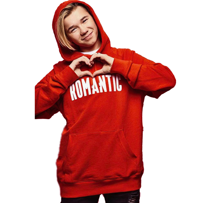 Romantic Letters Harajuku Hoodie Red Cotton Fall Women Hoodies