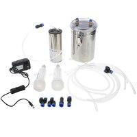 110 220V 2L/0.5 Gal Milking Machine Goat Sheep Electric Automatic Vacuum Pump Milking Machine Electric Impulse Milker