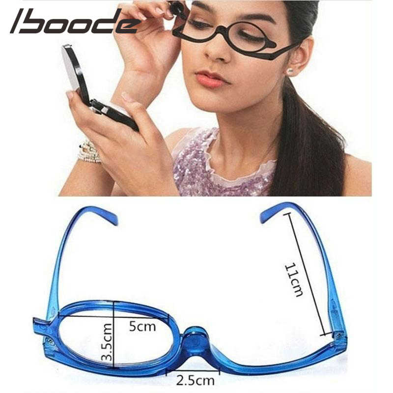 126c2478273 iboode Women Folding Eye Make Up Reading Glass 3 Colors Magnifying Makeup  Presbyopic Reading Glasses +