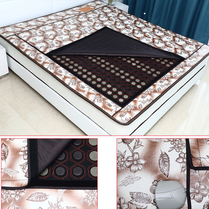 Jade stone tourmaline with Dightal Temperature Control Electric Heating Health Care Mattress Far Infrared Physiotherapy Blanket 2016 electric heating massage jade stone mattress korean mattress wholesaler 1 2x1 9m