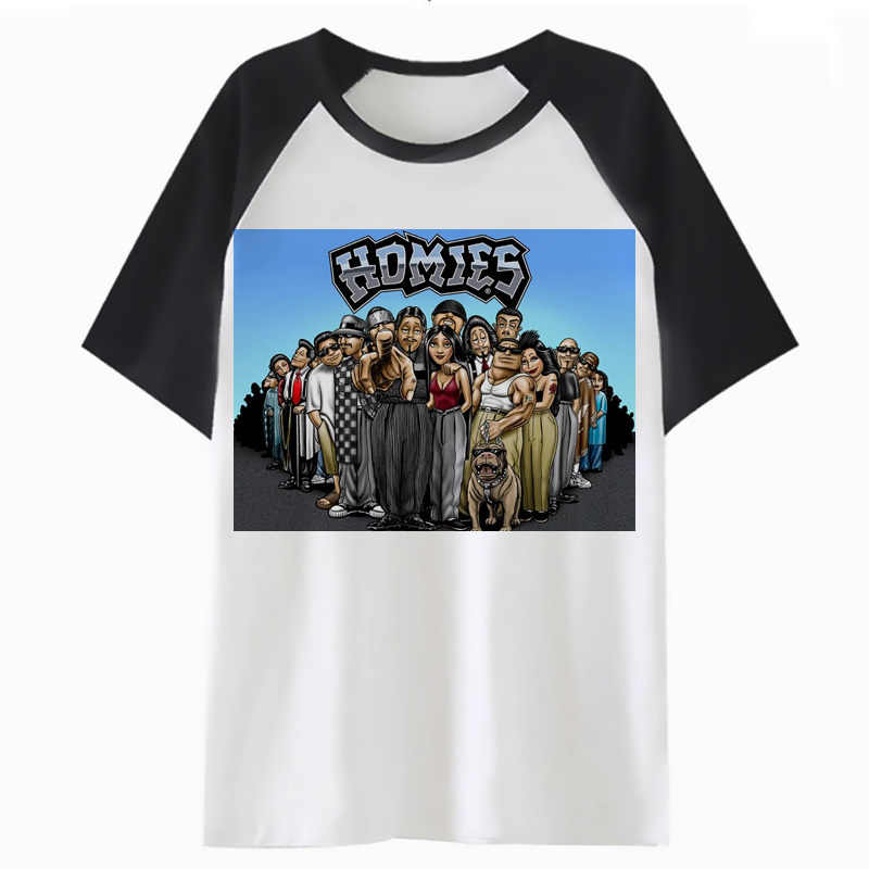 Camiseta Homies Divertida Para Hombre Hip Ropa Harajuku Top Camiseta Streetwear Tee I3209