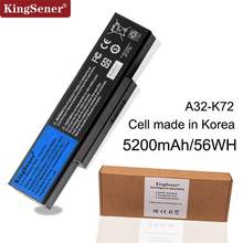 Korea Cell 5200mAh A32-K72 Laptop Battery for ASUS K72Y K73 K73B K73BR K73BY K73E K73J K73JK K73S K73SD K73SJ K73SM K73SV K73T(China)