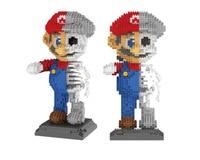mirco Diamond Building Blocks mario model Assembly Creative Children's Toy Building Block Skull Mario