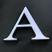Custom waterproof 3D acrylic face led alphabet letter shop advertising signage
