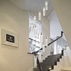 Nowoczesny żyrandol LED nordic żyrandol do salonu oprawy oświetleniowe schody oświetlenie loft długie wiszące światła na wysokie sufity|Wiszące lampki|   -