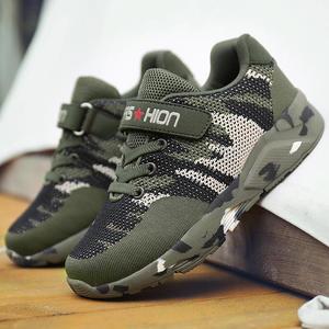 Image 4 - Летняя детская спортивная обувь, военные тренировочные камуфляжные кроссовки для мальчиков, армейский зеленый цвет, Детская уличная обувь для бега, кроссовки для девочек