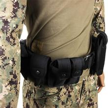 Tactical 10 In 1 Nylon Belt Military Army Combat Police Guard Utility Kit Set Magazine Pouch Flashlight Case Gun Holster Black цена в Москве и Питере