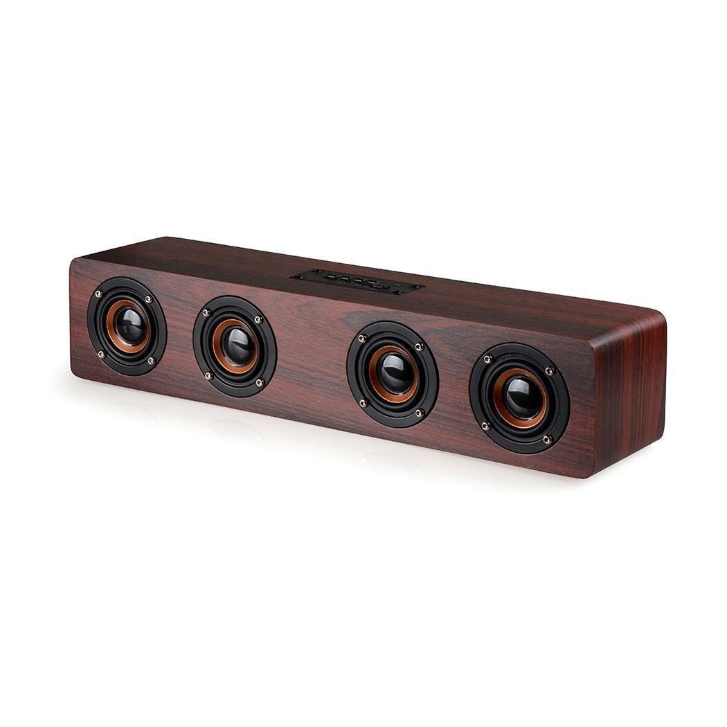 Haut-parleur Bluetooth sans fil USB Audio en bois Portable jouer de la musique