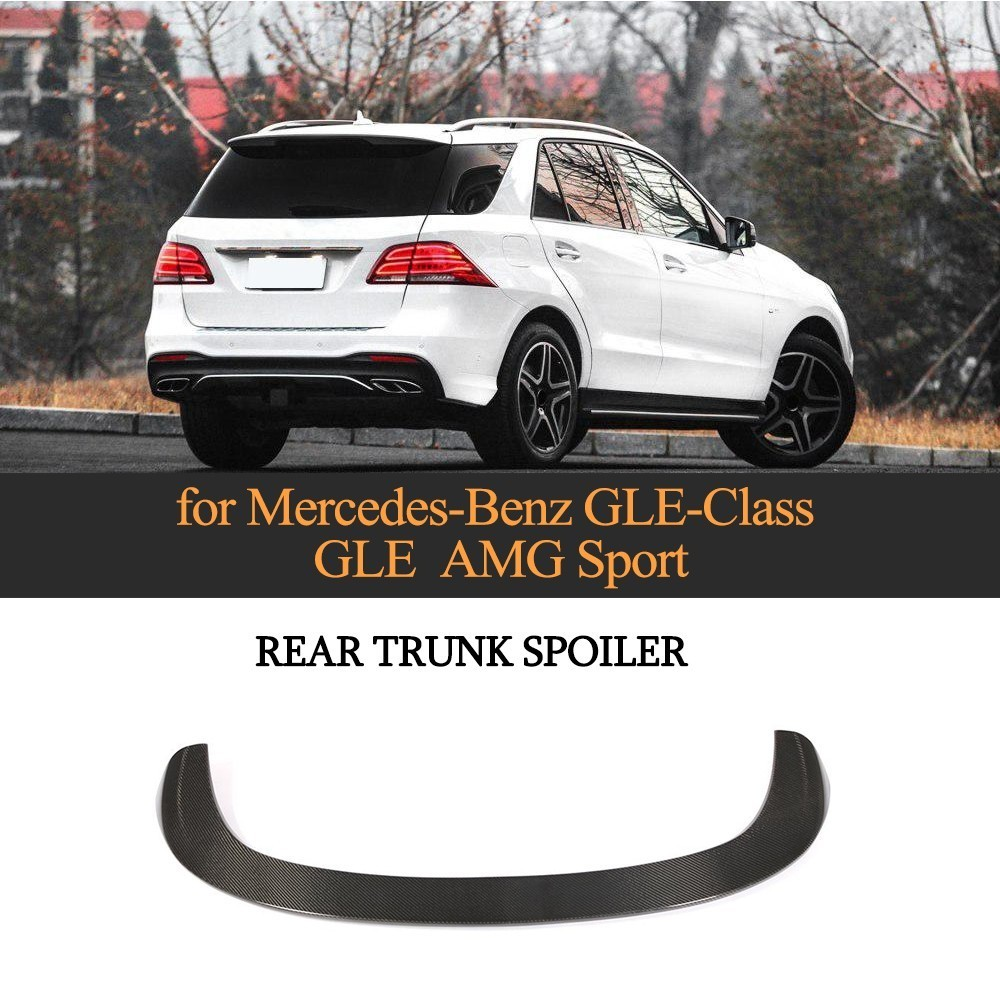 Carbon Fiber Rear Roof Lip Spoiler For Mercedes Benz GLE Class GLE43 AMG GLE300 350 400 450 500 550 2016 2017 2018 Spoilers & Wings     - title=