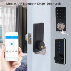 Del Telefono Mobile APP Bluetooth Intelligente Serratura Elettronica Touchscreen Password di Blocco di Sicurezza Maniglia Della Porta con 2 smart Key lucchetto