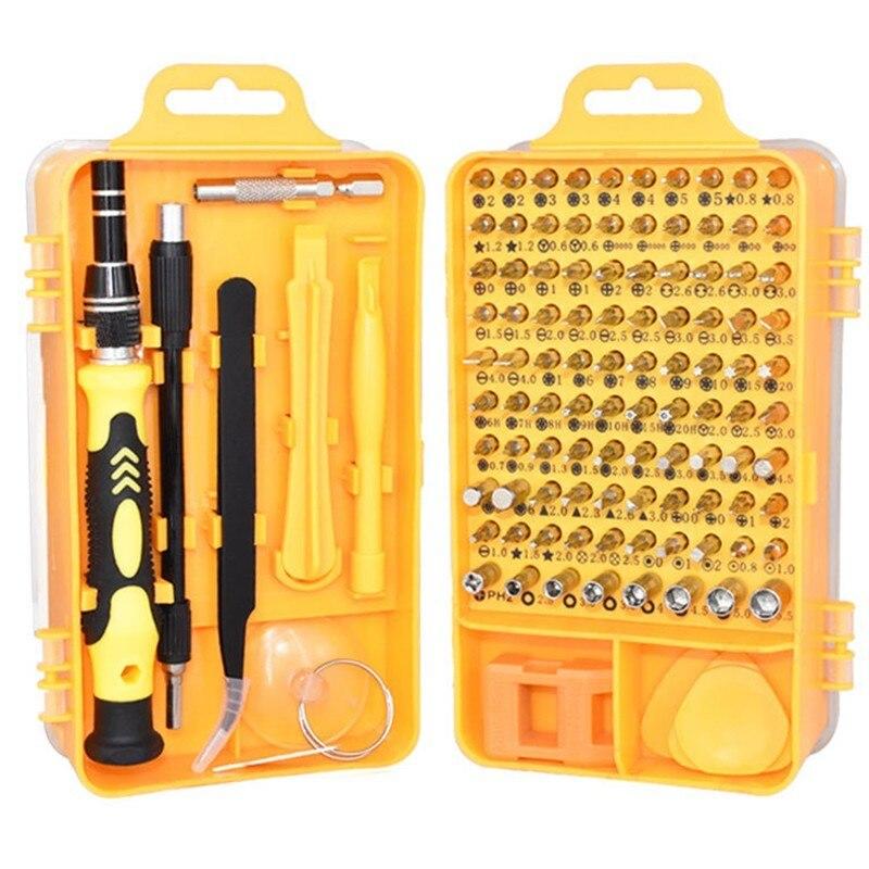 110 Em 1 Magnética chave de Fenda Torx Definir Alongar Muti Precisão Chaves De Fenda Para PC Phone Mão Pinças de Ferramentas Kits Com Pé de Cabra