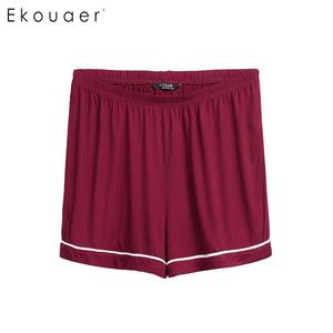 Image 5 - Ekouaer Plus Size Pajamas Set Nightwear Women Short Sleeve Elastic Waist  Shorts Sleepwear Pajama Set Two Piece Loungewear Suit