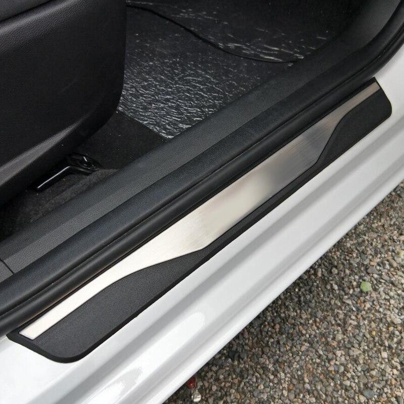 Pour ford kuga 2017 2018 2019 accessoires seuil de porte plaque de protection des seuils de porte protecteur pour ford kuga 2 voiture-style 4 pièces