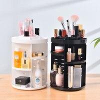 Fashion 360 Degree Rotating Makeup Organizer For Cosmetics Storage Box Plastic Clear Acrylic/Transparent Box Jewelry Necklace