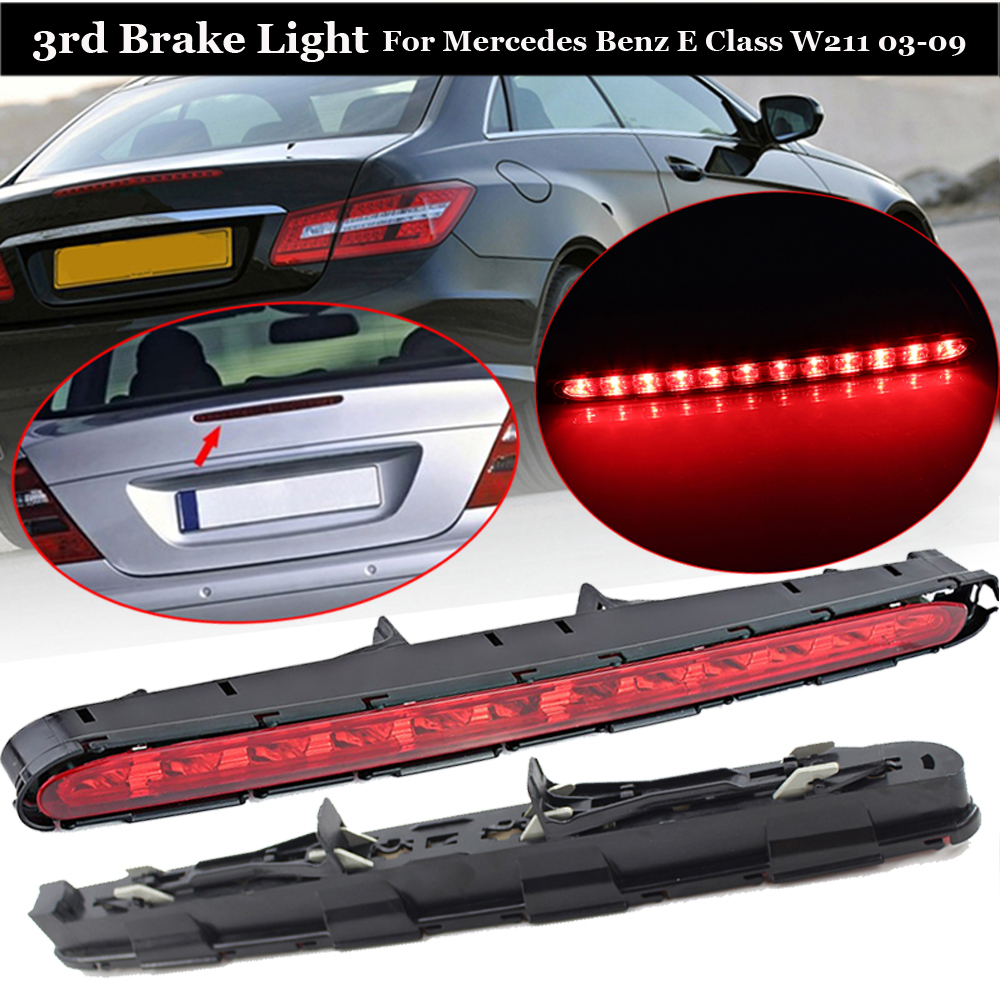 3RD Third Stop Brake Turn Signal Light LED High Level Rear Strip Tail For Mercedes Benz E Class W211 03 06 Red Car Accessories