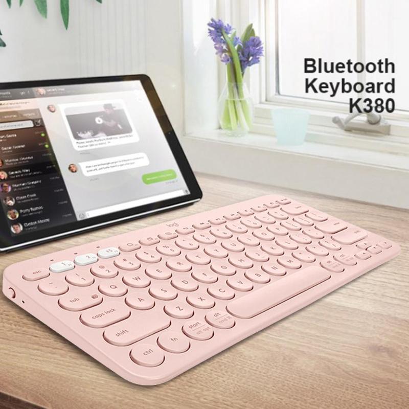 Logitech K380 sans fil Bluetooth 3.0 multi-périphériques claviers mode clavier Portable pour tablettes/iPad/ordinateur/téléphone Portable