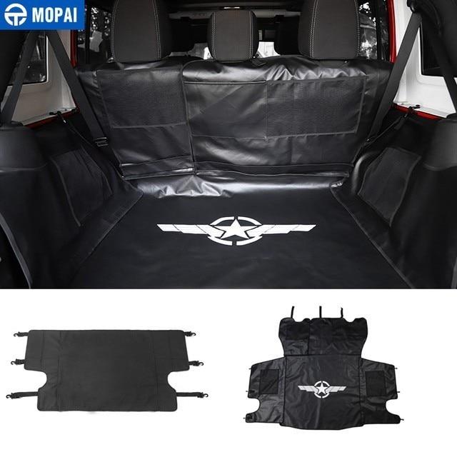 MOPAI Trunk Curtain Cover for Jeep Wrangler JK 2007 Car Trunk Pet Seat Cover Mat Hammock