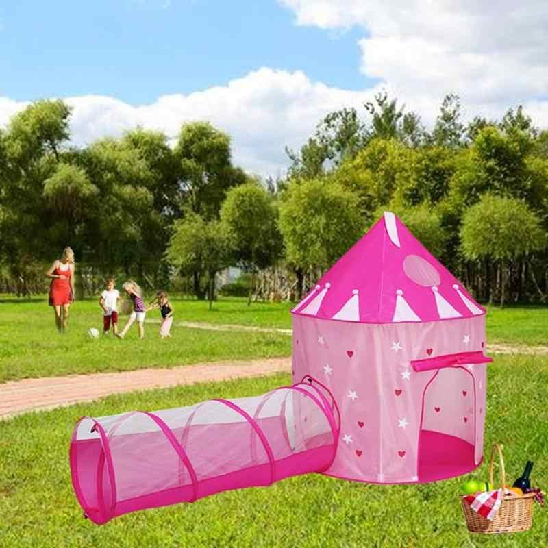 2 в 1 Детская светящаяся палатка для улицы игровой домик с туннельной юртой